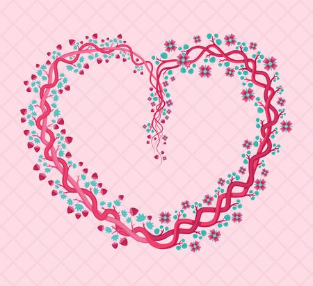 Pink Floral Heart Shaped With Feminine And Girly Shades. Can Be Used For Graduation Parties, Weddings, Marriages, Fashion, Invitations, Posters, Flayers, Women's Events, Prints, Poser, Greeting Cards