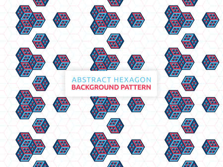 Abstract hexagon background. Abstract futuristic geometric pattern. Background vector illustration and honeycomb design. Can be used for wallpaper, print, backdrop, website, document, presentation