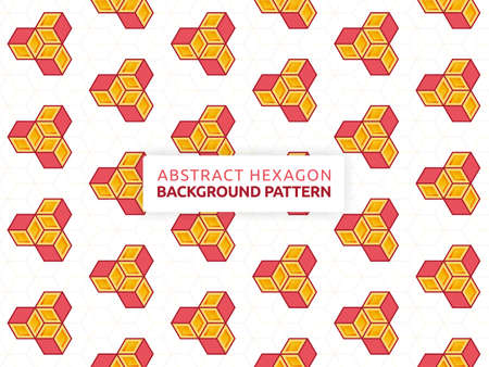 Futuristic abstract background vector illustration hexagon. Geometric shape seamless pattern. Vector hexagon banner design. Can be used for wallpaper, print, backdrop, website, document, presentation