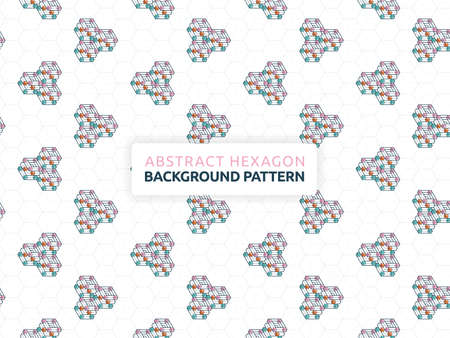 Abstract background with futuristic geometric pattern. Abstract hexagon background vector illustration. Can be used for wallpaper, print, backdrop, website, document, presentation
