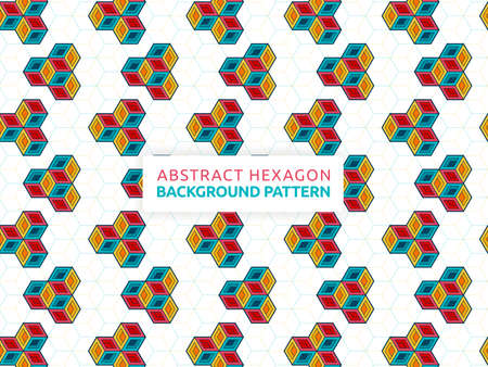 Futuristic abstract background vector illustration hexagon. Geometric shape seamless pattern. Vector hexagon banner design. Can be used for wallpaper, print, backdrop, website, document, presentation 版權商用圖片 - 159573642