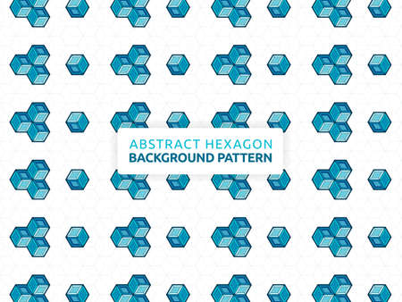 Abstract hexagon background. Abstract futuristic geometric pattern. Background vector illustration and honeycomb design. Can be used for wallpaper, print, backdrop, website, document, presentation 版權商用圖片 - 159573641
