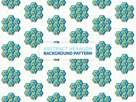 Futuristic abstract background vector illustration hexagon. Geometric shape seamless pattern. Vector hexagon banner design. Can be used for wallpaper, print, backdrop, website, document, presentation 版權商用圖片 - 159573650