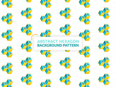 Abstract hexagon background. Honeycomb white background. Vector banner design. White background with hexagon pattern. Can be used for wallpaper, print, backdrop, website, page, document, presentation 矢量图像
