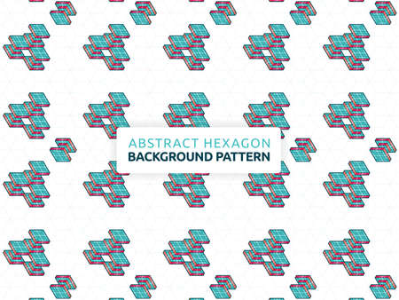 Abstract hexagon background. Abstract futuristic geometric pattern. Background vector illustration and honeycomb design. Can be used for wallpaper, print, backdrop, website, document, presentation 版權商用圖片 - 159573654