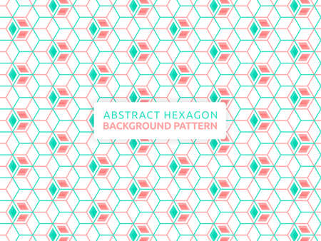 Hexagon abstract vector background. Geometric shape concept background. Vector banner design. Hexagon seamless pattern. Can be used for wallpaper, print, backdrop, website, document, presentation 版權商用圖片 - 159575656