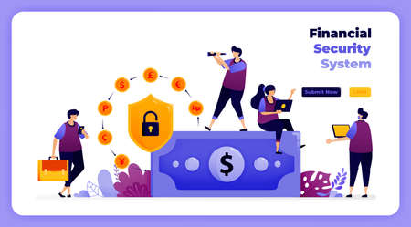 financial security system in global banking and digital transactions.