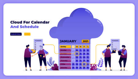 storage and completion of scheduling on the January working calendar.