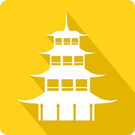 china wall: Pagoda, vector illustration Illustration