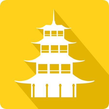 china: Pagoda, vector illustration Illustration