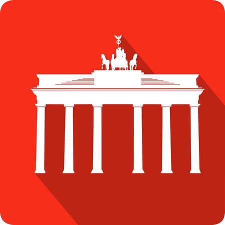 widely: Brandenburg Gate, vector illustration