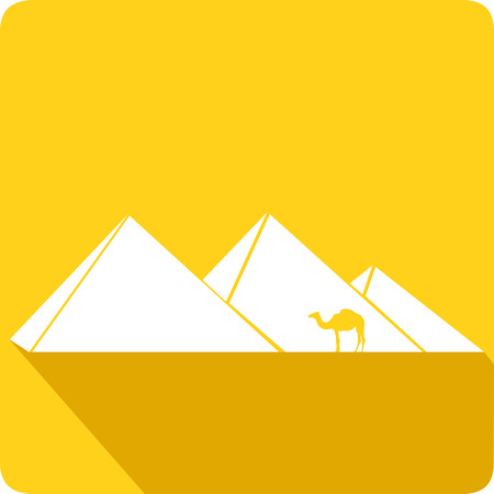 wanderer: Egyptian pyramids, vector illustration