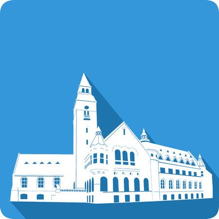 scandinavia: symbol of Finland, vector illustration