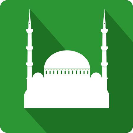 Moskee, vector illustratie