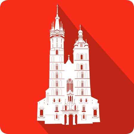 cathedrals: church, vector illustration