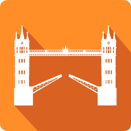 thames: Tower Bridge, vector illustration