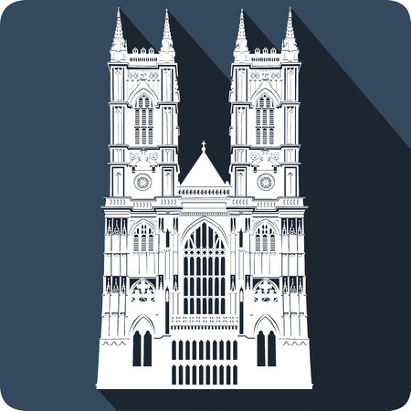 abbey: Cathedral, vector illustration Illustration