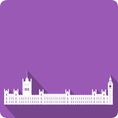 westminster abbey: Westminster, vector illustration Illustration