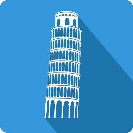 Leaning Tower of Pisa, illustration, vector Illustration