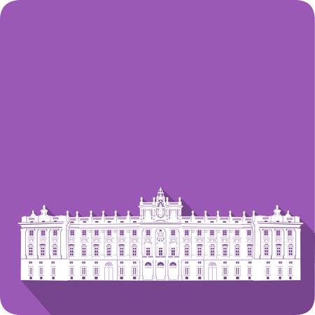 palace: palace, vector illustration Illustration