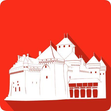 fortification: Castle, vector illustration