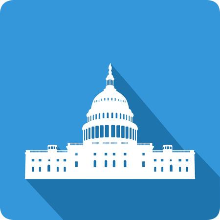 white house: White house, vector illustration
