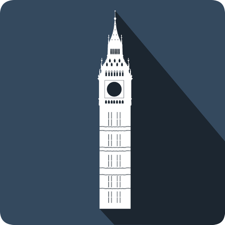 westminster abbey: Big Ben Tower, vector illustration