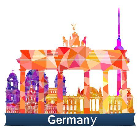 sights: Sights Germany, vector illustration