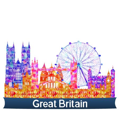 sights: Sights UK, vector illustration