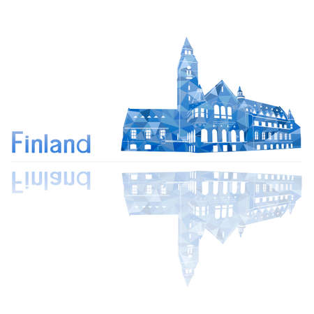 finland: symbol of Finland, vector illustration