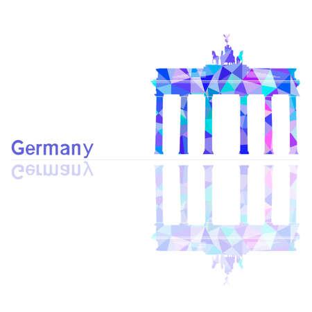 high road: symbol of Germany, vector illustration