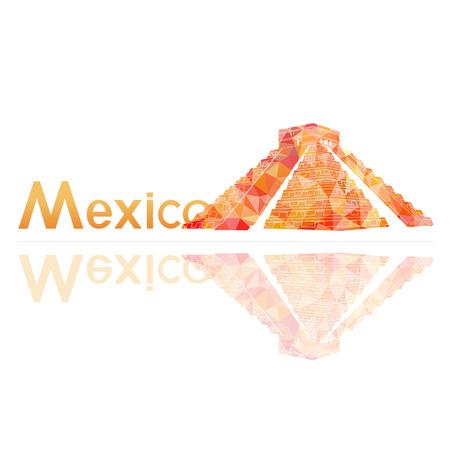 itza: symbol of Mexico, vector illustration Illustration