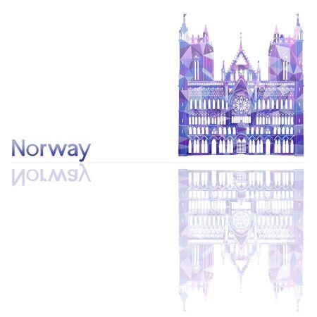 artsy: symbol of Norway, vector illustration Illustration