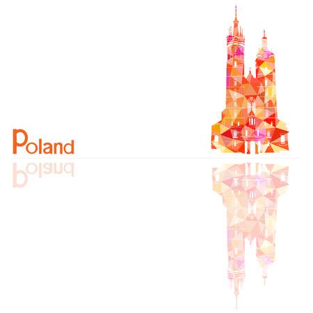 Symbole de la Pologne, illustration vectorielle Banque d'images - 46092234