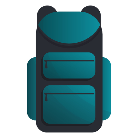 backpack in cartoon style, vector illustration. Иллюстрация