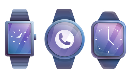 set of smart watches, vector illustration