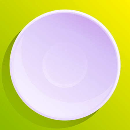 empty plate on green background, vector illustration