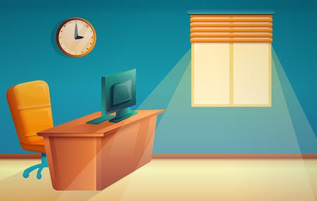 cartoon beautiful office boss, illustration vector