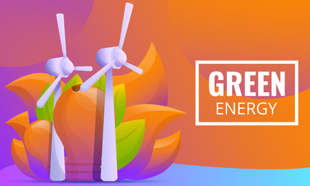 design concept on the theme of green energy, vector illustration 向量圖像