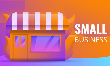 small business concept design, vector illustration Ilustrace