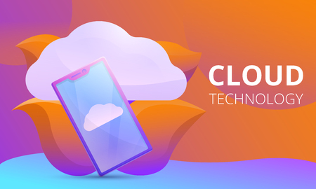 cloud technology concept design, vector illustration