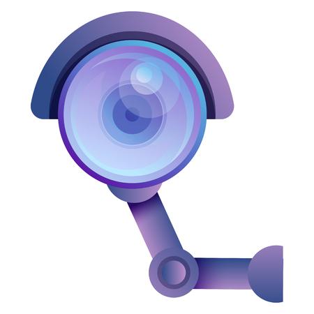 cartoon camera surveillance isolated on white background, vector illustration