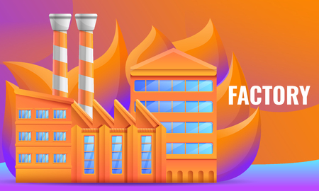 design concept of the factory on an abstract background, vector illustration