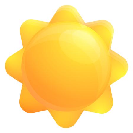 sun icon, vector illustration