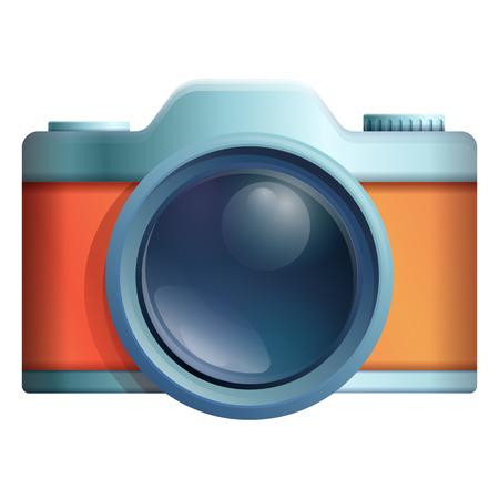 cartoon camera icon, vector illustration