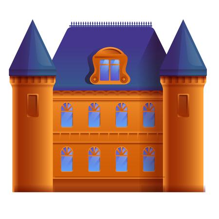 beautiful cartoon castle, vector illustration