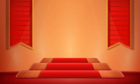 hall, tapestry, room, king, castle, beautiful, steps, stairs, carpet, pattern, interior, vector, illustration, stone, wall, reception, beautiful, cartoon, vector, illustration 向量圖像