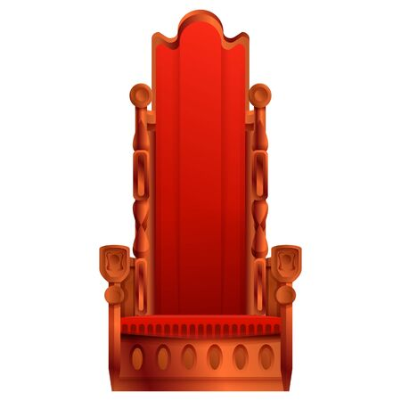 royal throne cartoon icon isolated on white background, vector illustration