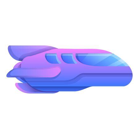 cartoon spaceship, vector illustration 일러스트