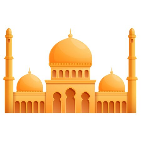 Mosque cartoon icon isolated on white background, vector illustration